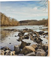 The New River At Whitt Riverbend Park - Giles County Virginia Wood Print