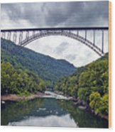 The New River Gorge Bridge In West Virginia Wood Print