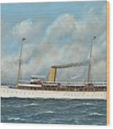 The New York Yacht Club Steam Yacht Vanadis At Sea Wood Print