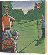 The New Yorker Cover - August 25th, 1956 Wood Print