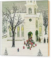 The New Yorker Cover - December 18th, 1948 Wood Print