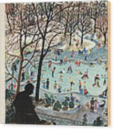The New Yorker Cover - February 4th, 1961 Wood Print