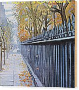 Autumn In New York Wood Print