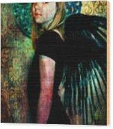 The Night Angel Wood Print