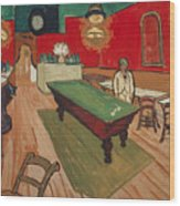 The Night Cafe In Arles Wood Print