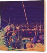 The Nightmare Carousel 22 Wood Print