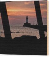 The North Pier Lighthouse Wood Print
