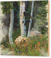 The North Rim Forest Wood Print