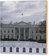 The North View Of The White House Wood Print