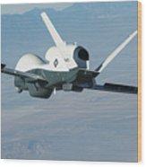 The Northrop Grumman-built Triton Unmanned Aircraft System Wood Print