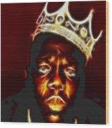 The Notorious B.i.g. - Biggie Smalls Wood Print by Paul Ward