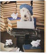 The Novelist Wood Print