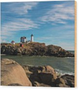 The Nubble 2 Wood Print