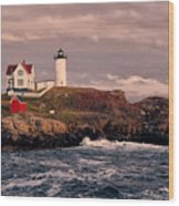 The Nubble Lighthouse  Wood Print