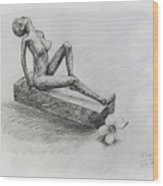 The Nude  Sculpture Wood Print