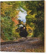 The Number 40 Rounding The Bend Wood Print