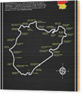 The Nurburgring Nordschleife Wood Print