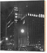 The Ny Daily News Building Wood Print