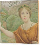 The Nymph Wood Print by Thomas Cooper Gotch