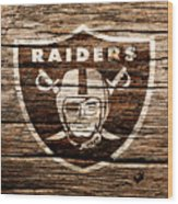 The Oakland Raiders 1f Wood Print