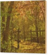 The Oakwood Bridge Wood Print