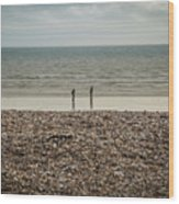 The Ocean Can Make You Feel Small, Bognor Regis, Uk. Wood Print