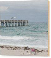 The Ocean Pier Wood Print