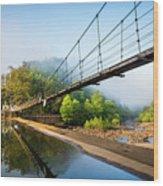 The Ocoee River Dam Wood Print