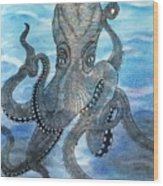 The Octopus 3 Wood Print