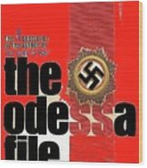 The Odessa File Frederick Forsyth Book Cover 1972 Color Added 2016 Wood Print
