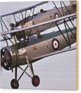The Old Aircraft Wood Print