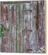 The Old Barn Door Wood Print