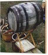 The Old Beer Barrel Wood Print