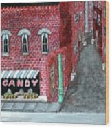 The Old Brick Candy Store Wood Print