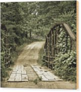 The Old Bridge Wood Print