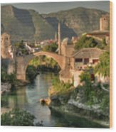 The Old Bridge Of Mostar  Wood Print