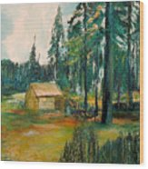 The Old Cabin Wood Print
