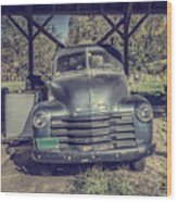 The Old Chevy Vermont Wood Print