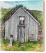 The Old Chicken Coop Iceland Turf Barn Wood Print