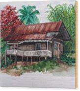 The Old Cocoa House  Wood Print
