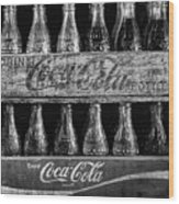 The Old Coke Stack In Black And White Wood Print