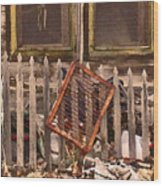 The Old Cooper House Front Grate Wood Print