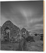 The Old Cottage, Wicklow Wood Print