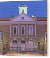 The Old Exchange And Provost Dungeon At Twilight Charleston South Carolina Wood Print