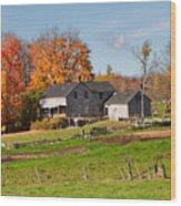 The Old Farm In Autumn Wood Print by Louise Heusinkveld