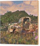 The Old Farm Truck Wood Print