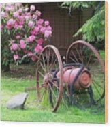 The Old Fire Pumper Wood Print
