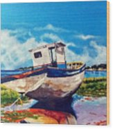 The Old Fishing Boat Wood Print
