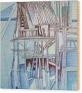 The Old Fishing Shack Wood Print