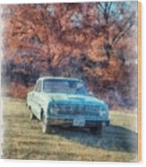 The Old Ford On The Side Of The Road Wood Print